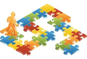 Man-on-Puzzle